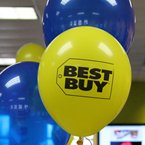 Balloons with the Best Buy Logo