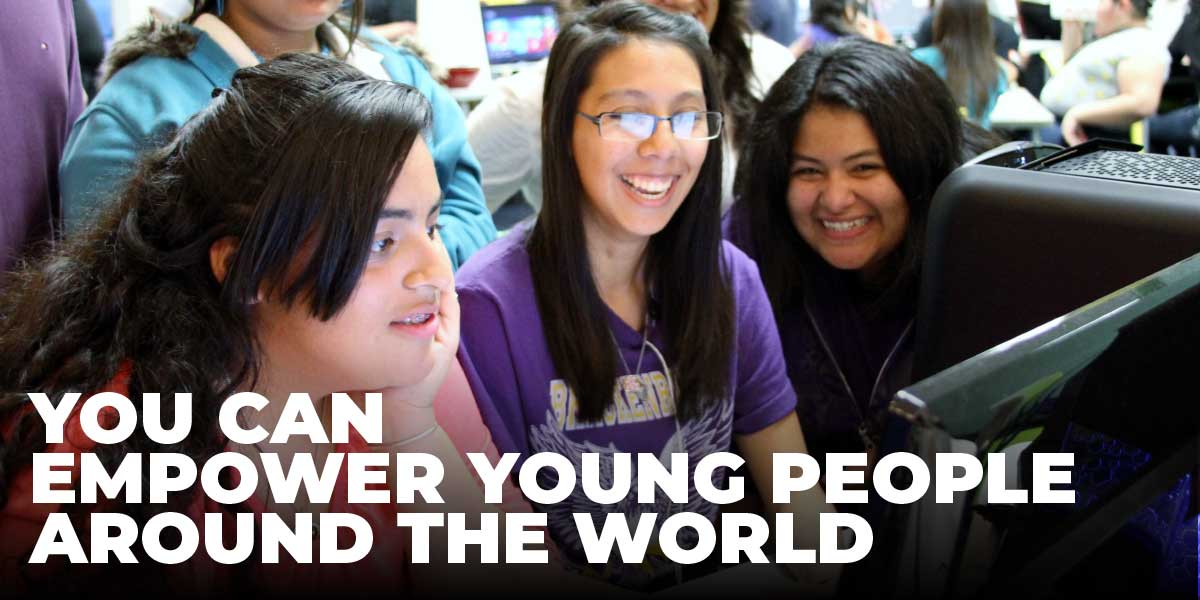 Donate Today - You Can Empower Young People Around the World