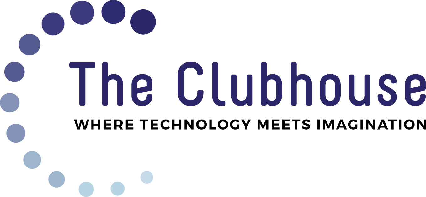 Individual Clubhouse Logo with Tagline: Where Technology Meets Imagination