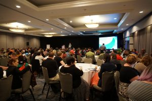 A plenary session at annual conference