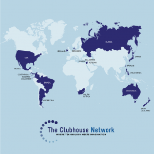 Map of Clubhouse Locations around the world