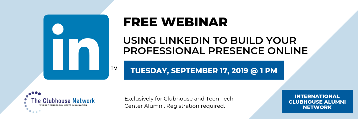 banner: Using LinkedIn to Build Your Professional Presence Online