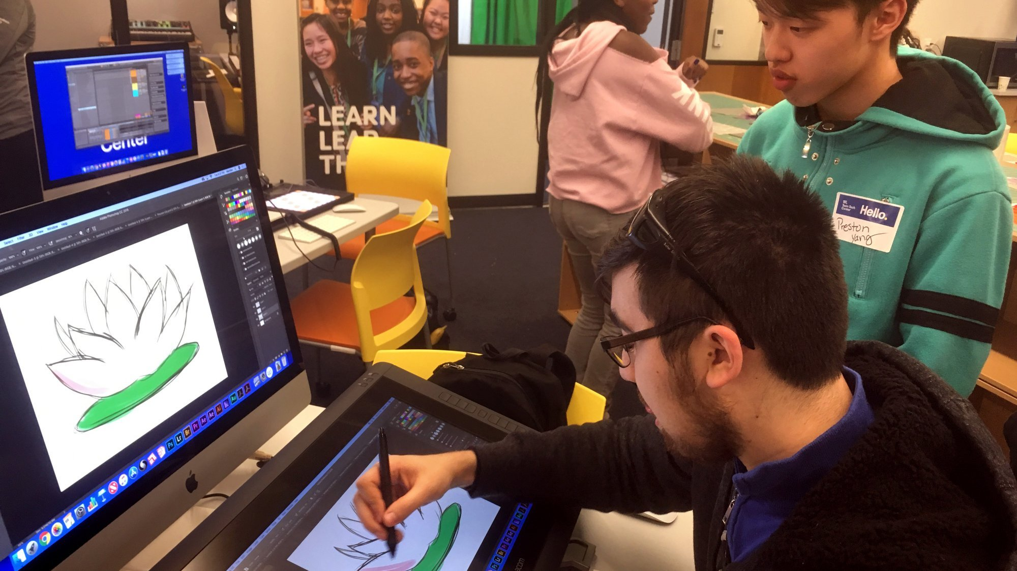 digital illustration at the best buy teen tech center at the ymca of greater louisville