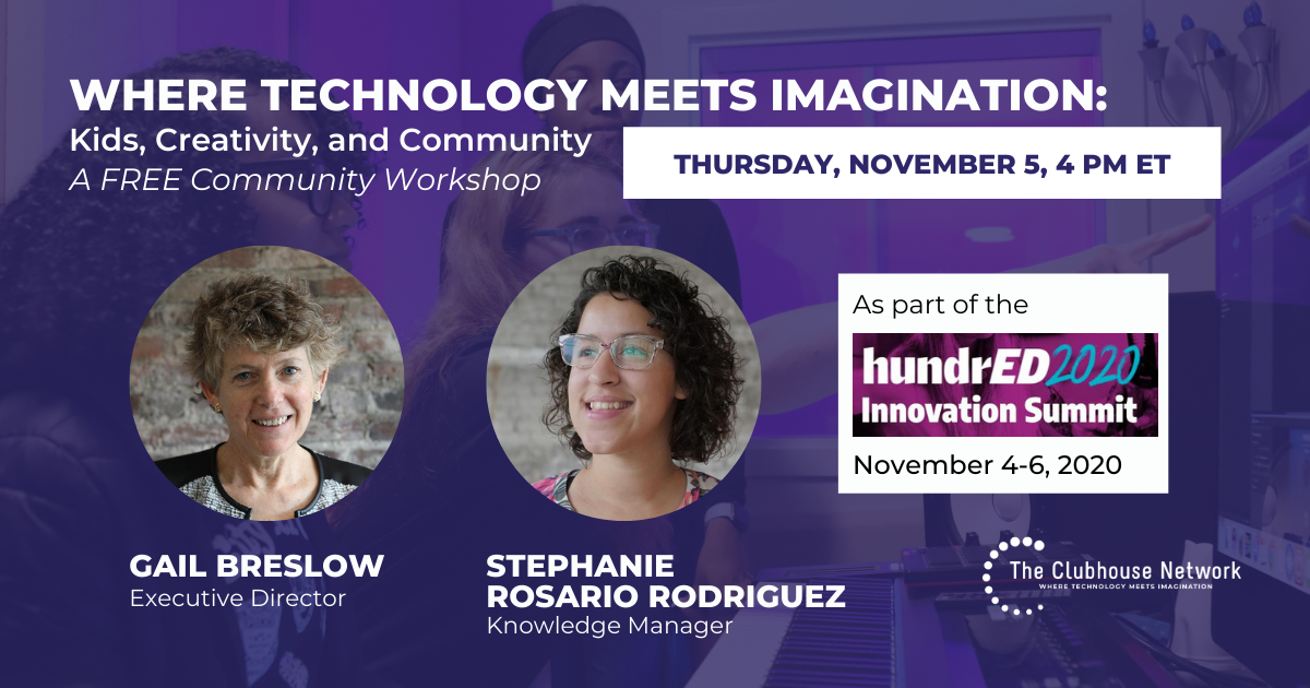 Free community workshop at 2020 Hundred Innovation Summit November 5 at 4pm ET
