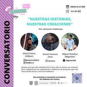 Flyer for gather for The Clubhouse @ FARO de Oriente's 16th Anniversary