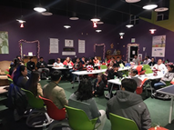 The Youth Leadership Council at The First Tee of Monterey County Clubhouse in Salinas, CA, USA Collaborates with Members, Alumni and Families
